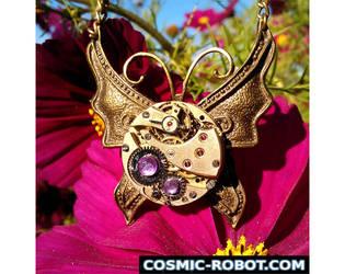 Steampunk Butterfly Pendant by Henri-1