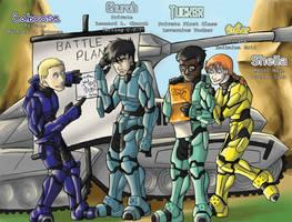 Luke McKay's Blue Team by dragonsong12