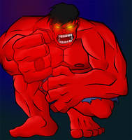 Red Lantern Hulk by dragonsong12