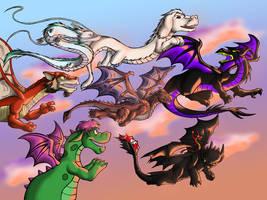 Dragon's Flight by dragonsong12