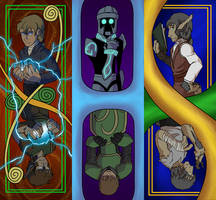 Comic Bookmarks by dragonsong12