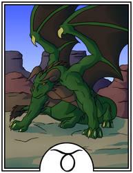 Zodiac Dragons - Taurus by dragonsong12