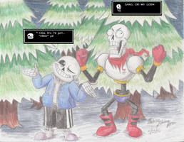 UNDERTALE - Spoopy Skele-bros in Their Habitat by SemiJuggalo