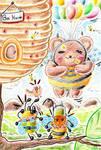 Bear can fly by hiru-miyamoto