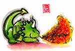 Sumi-e - Drago 012 by hiru-miyamoto