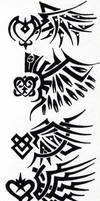 Tribal 001 - Wings by hiru-miyamoto