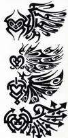 Tribal 002 - Wings by hiru-miyamoto