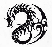 Tribal 005 - Dragon by hiru-miyamoto