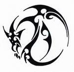Tribal 007 - Dragon by hiru-miyamoto