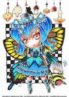 Comission - Butterfly girl by hiru-miyamoto