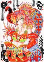 Red Peacock by hiru-miyamoto