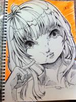 Sketch - Buuuu by hiru-miyamoto