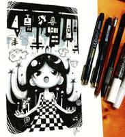 Inktober 03 by hiru-miyamoto