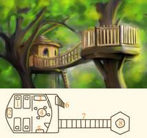 Treehouse: Outpost Arletha by yami-izumi