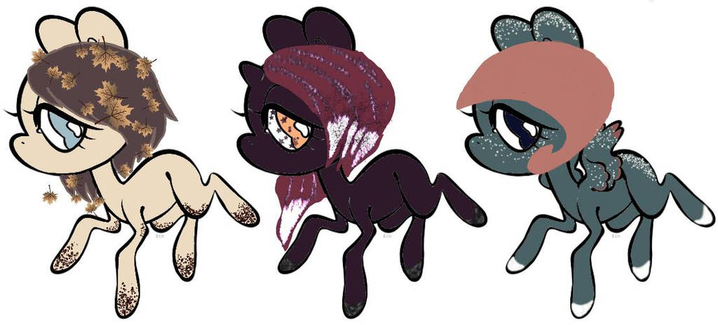 5 POINT PONY ADOPTS by Girl-in-Smoke