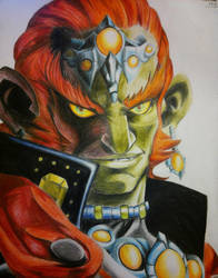 Ganondorf Color Sketch by MaskedGolem