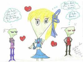 Dana, Zeec, and Zim by InvdrDana