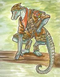 Cura-Ocllo the geko rebel by SteinWill
