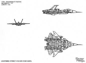 Galaxy Parell - Lightning Strike Squadron's SU-X20 by NikeMike34