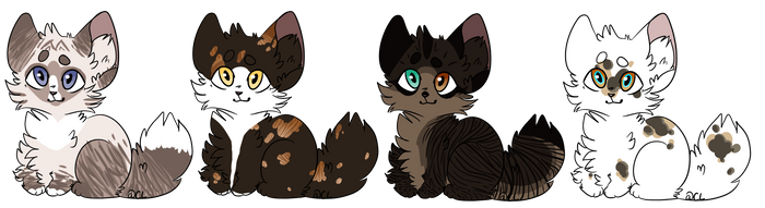 Closed Auction Kittens (3/4) by LillyofIndominus