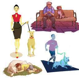 people and their dogs 1 by mangoshell