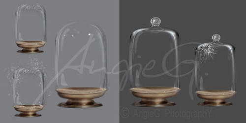 Ball Glass Jars - High Resolution PSD Files by GinAngieLa