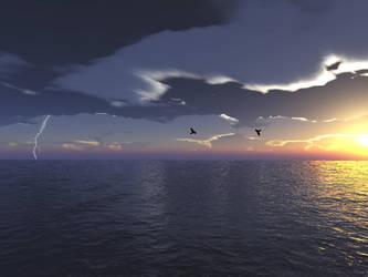 Sundown at the sea by rozoga666