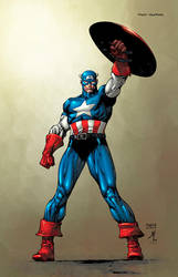 Captain America Commission by SotoColor