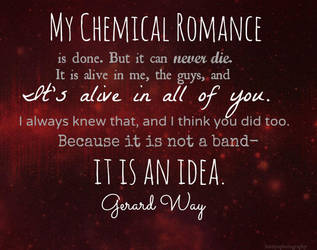 My Chemical Romance 2001-2013 We'll Carry On. by KatelynPhotography