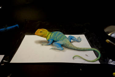 3d lizard by Yakise