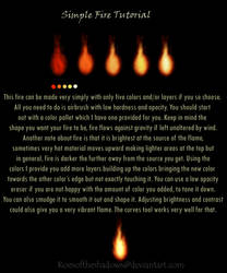 Simple Fire Tutorial by roesoftheshadows