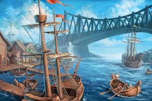 Pathfinder: Oppara Port by WillOBrien