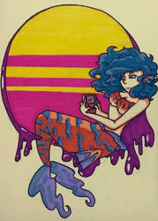 Retro Mermaid by SugarPhonics