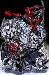 Spidermen vs Hulk by ElvinHernandez