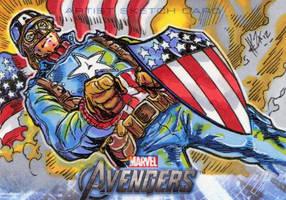 Avengers Cards: Ultimate Cap by ElvinHernandez