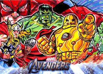 Avengers Cards: Classic Avengers by ElvinHernandez