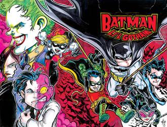 Lil Gotham Sketch Cover Coloremail by ElvinHernandez