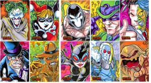 DC Bat Villains by ElvinHernandez