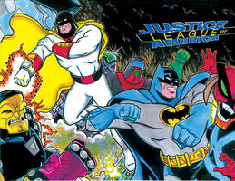 Batman Space Ghost sketch cover lowres by ElvinHernandez