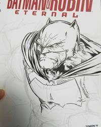 Batman dkr sketch by ElvinHernandez