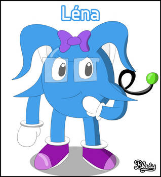 Lena - The girly with glasses by BladyCartoons