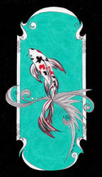 Koi fairy tale illustration 2013 by Milanthis