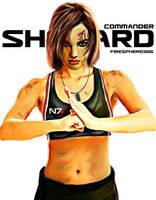 commander shepard-Digital Painting by Firesphere306