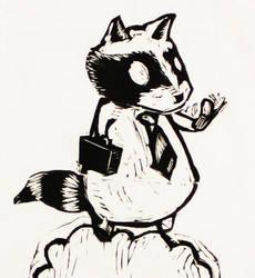 Business-raccoon by danstender