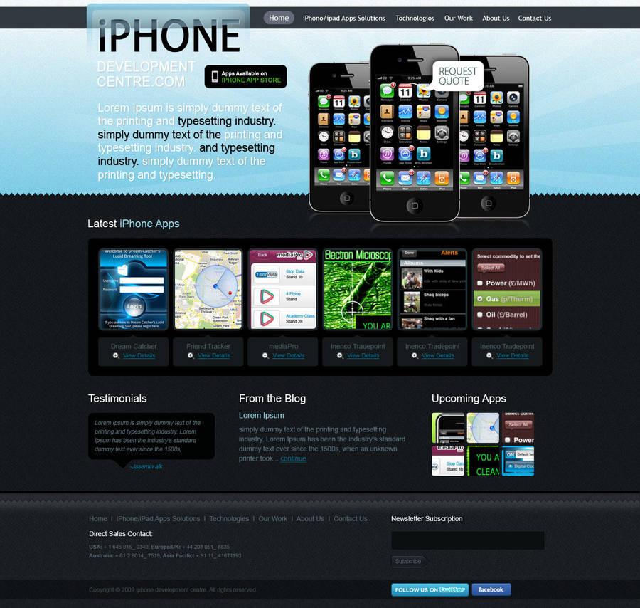 iphone Weblayout Mufeed by MufeedAhmad