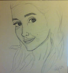 Ariana Grande in ballpoint pen by ganondumb
