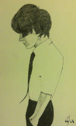 Harry Styles Pen and Ink Portrait by ganondumb