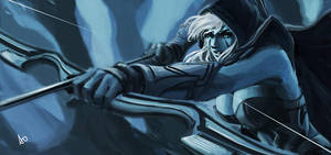 Dota 2 Drow Ranger by borjen-art