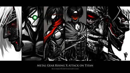 Metal Gear Rising X Attack on Titan Wallpaper by borjen-art