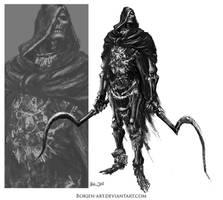 Skeleton Swordman by borjen-art